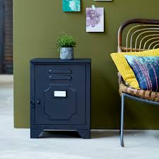 low priced industrial style metal bedside table and metallic industriel metal bedside cabinet