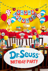 Cat In The Hat Table Centerpieces by Dr Seuss Birthday Party