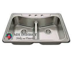 low divide stainless steel sink double bowl topmount stainless steel drop in kitchen sink self