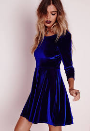 blue new years dresses we can t wait to get our on this show stopping velvet skater