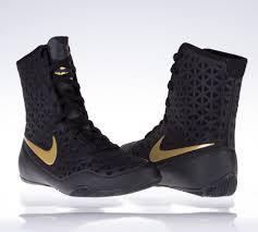 nike ko boxing boots black gold