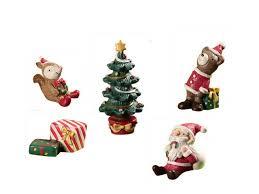 tree santa claus squirrel gift miniature figurine