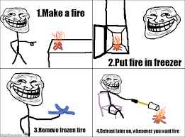 Troll Physics Meme - ragegenerator rage comic troll physics frozen fire