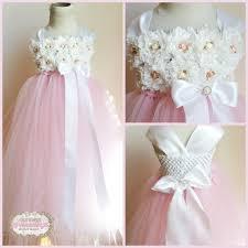 Shabby Chic Skirts by Light Pink Tulle Skirt White Shabby Chic Flower Dress Vintage
