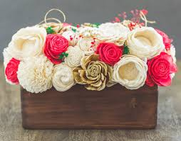 sola wood flower centerpiece christmas centerpiece luv my flowers