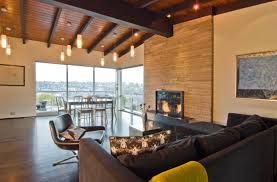 plain mid century modern rustic living room los angeles by d