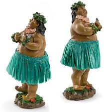lelani dashboard hula doll local boy with ukulele green
