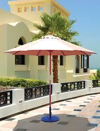 Palm Tree Patio Umbrella Galtech 9 Ft Double Pulley Patio Wood Umbrella With Sunbrella Canopy
