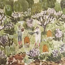 Art Garden Katherine Lewis U2014 Tending The Bees Paint Sketch Painting Art