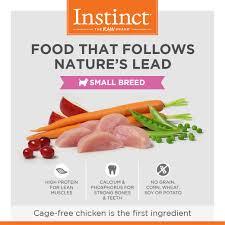 instinct original grain free recipe with real chicken for small