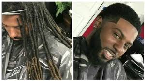 hairstyles after dreadlocks dreadlocks to short hair cut by cali the barber afro haircut