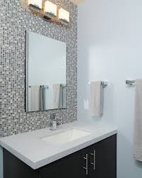 Tiling Around Bathtub 31 Ideas Of Using Mosaic Tile Around Bathroom Mirror