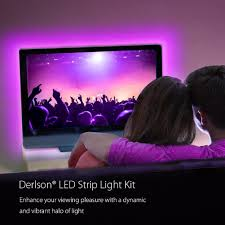 led strip light under cabinet amazon com derlson bias lighting for tv led strip lights