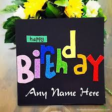 a wish birthday cards with name