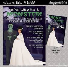 party city halloween costumes elsa halloween gender reveal invitations couples baby shower