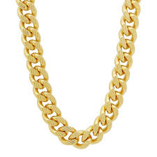 gold curb necklace images 14k gold plated 11mm curb chain with diamond cuts cuban link jpg