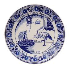 birth plates personalized 8 delft blue birth plate personalized birth tiles birth plates