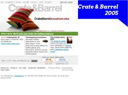 the ecommerce evolution of crate barrel from 1999 2015