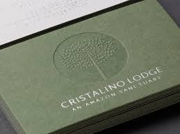 cotton resume paper cotton business cards silver foil blocked business card duplex blind debossed and silver foil business card for cristalino lodge designed by one darnley road