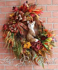 Fall Wreaths Large Rustic Fox Autumn Fall Woodland Wreath Fall Autumn Wreaths