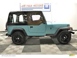 jeep teal bright aqua jeep wrangler for sale 1995 jeep wrangler s 4x4