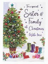 sister and family christmas card ebay