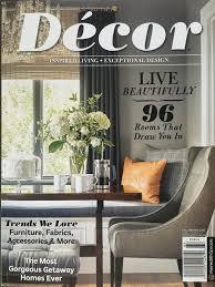 vignette design on the cover of décor magazine