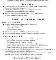 Warehouse Manager Sample Resume by Project Ideas Sample Warehouse Resume 6 Warehouse Resume Samples