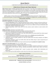 view food services resume example dining manager