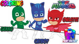 pj masks new coloring page disney jr coloring book for kids to