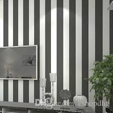 wide wallpaper home decor modern grey and white wide stripe wallpaper roll papel de parede for