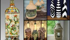 diy recycled home decor diy wine bottle home decoration idea upcycle glass bottles