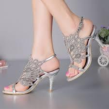 Rhinestone Flat Sandals Wedding Stiletto Heel Sandals Strappy Summer Sandals Black Rhinestone