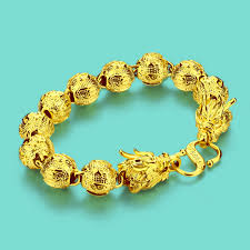 gold bracelet chain styles images New chinese style gold jewelry men 24k gold bracelet dragon design jpg