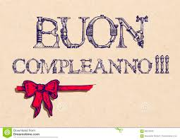 buon compleanno happy birthday in italian greeting card stock