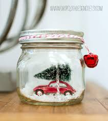 car in a jar snow globe by mason jar crafts love and other great