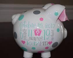 monogrammed piggy banks piggy bank etsy