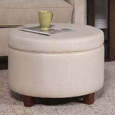Homepop Storage Ottoman Homepop Large Ivory Leather Storage Ottoman Free Shipping
