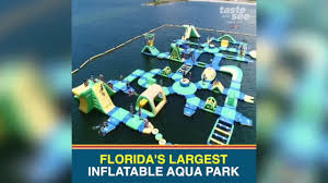 check out florida u0027s largest inflatable aqua park in pasco county