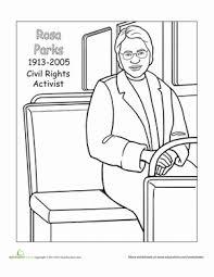 Rosa Parks Coloring Page rosa parks worksheet education