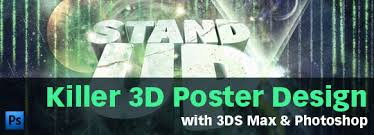 cara membuat poster manual tutorial killer 3d poster design with 3ds max photoshop go