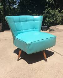 mid century modern swivel chair vtg 1960 u0027s teal kroehler club swivel chair mid century modern