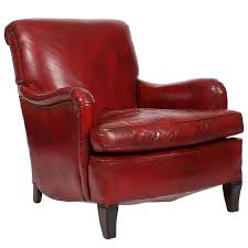 Leather Club Armchair Adorable Red Leather Club Chair With Comfy Vintage Red Leather