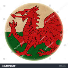 How Old Is The Welsh Flag Grunge Wales Flag Drawing Button Stock Illustration 117994021