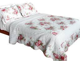 pink world 100 cotton 3pc patchwork quilt set