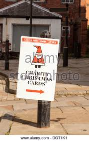 charity christmas cards on sale in london church crypt stock photo