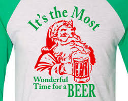 mens its the most wonderful time for a beer christmas t shirt