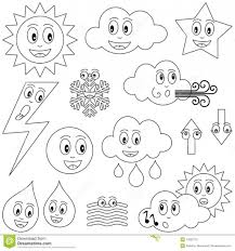 coloring pages weather breadedcat printable severe sheets