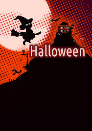 clipart halloween poster background
