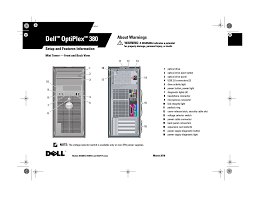 Dell Diagnostic Lights Dell Optiplex 380 Late 2009 User Manual 8 Pages
